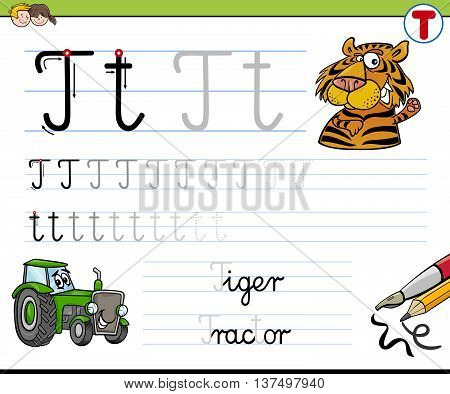 How To Write Letter T