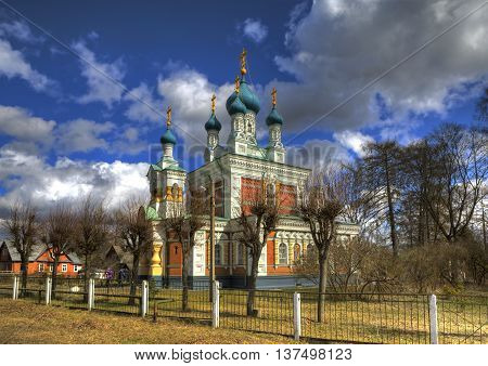 Church of the Intercession of the Mother of God in Marienburg. Gatchina. Leningrad region. Russia.