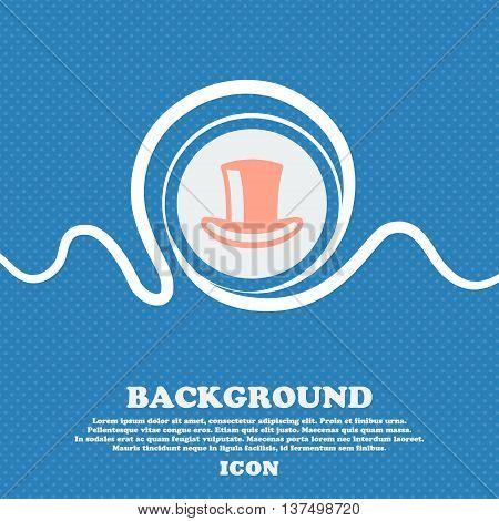 Cylinder Hat  Sign Icon. Blue And White Abstract Background Flecked With Space For Text And Your Des