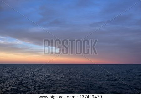 Beautiful Sunset Over Lake Erie North Shore