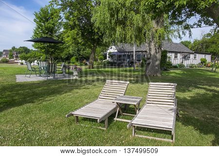 Relaxing Atmosphere of a Cottage Surrounded by Mature Trees