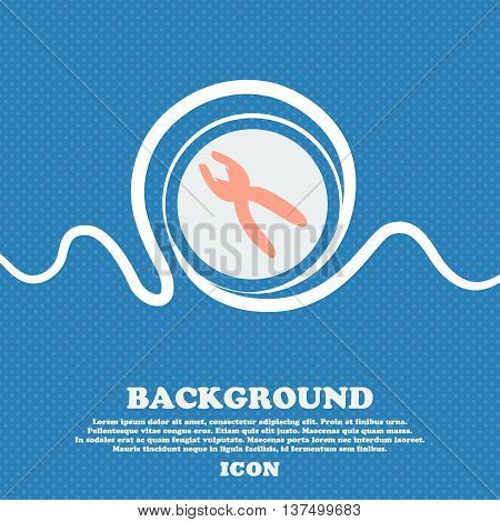 Pliers Icon Sign. Blue And White Abstract Background Flecked With Space For Text And Your Design. Ve
