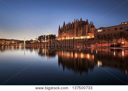 Cathedral of Santa Maria of Palma de Mallorca La Seu Spain