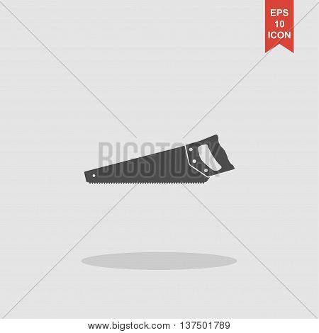 Hacksaw Icon. Vector Concept Illustration For Design