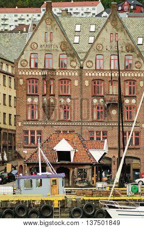 Historical Buildings On The Street In Berge,norway