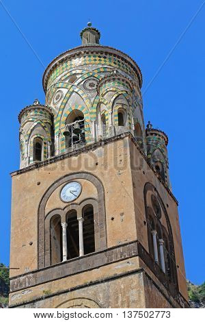 Apostle Saint Andrew Cathedral Tower in Amalfi