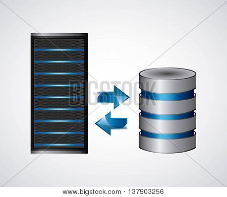 Technology and data base design represented by web hosting icon. Colorfull illustration.