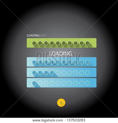 preloaders and progress loading bars. vector illustration.