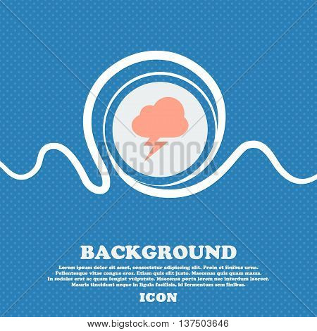 Storm  Sign Icon. Blue And White Abstract Background Flecked With Space For Text And Your Design. Ve