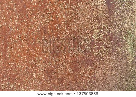 Old metal plate with corrosion for background