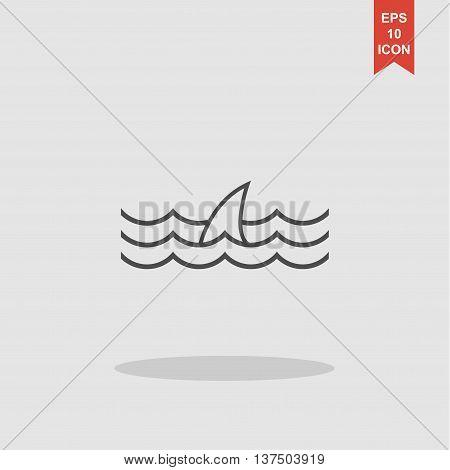 Shark Fin Icon.