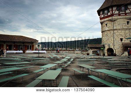 On the top of Shaffhausen - castle ground view, Switzerland