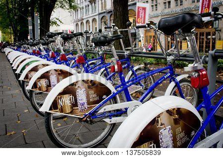 Bike Parking In Oslo, Norway