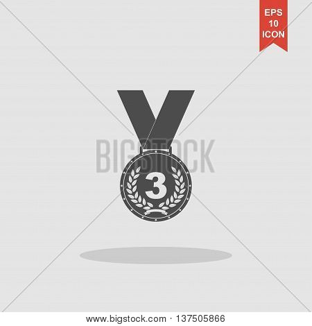 Medal Icon. Vector Concept Illustration For Design