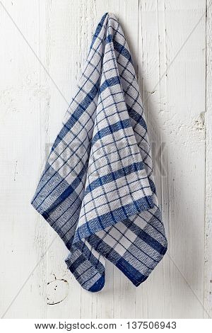 Clean And Soft Towel Hanging At Bathroom Wall