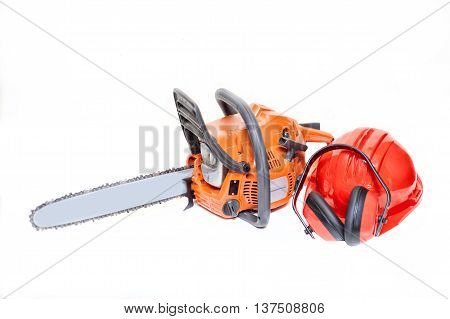 Mechanical Gasoline Powered Chainsaw With Protective Gear And Ac