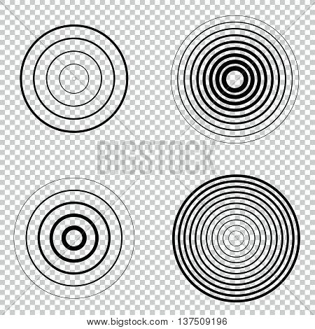 Collection of sound vector symbols. Isolated. Easy to use.