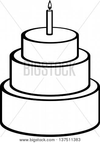 big cake with candle