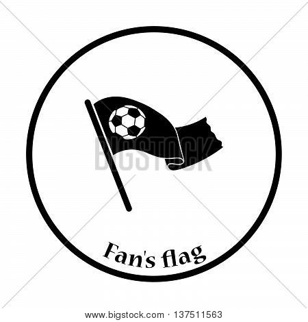 Football Fans Waving Flag With Soccer Ball Icon