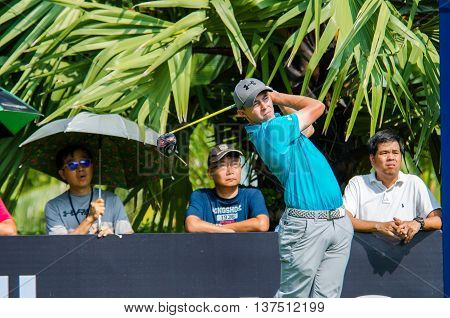 CHONBURI - DECEMBER 10 : SMatthew Fitzpatrick of England player in Thailand Golf Championship 2015 (Tournament on the Asian Tour) at Amata Spring Country Club on December 10 2015 in Chonburi Thailand.