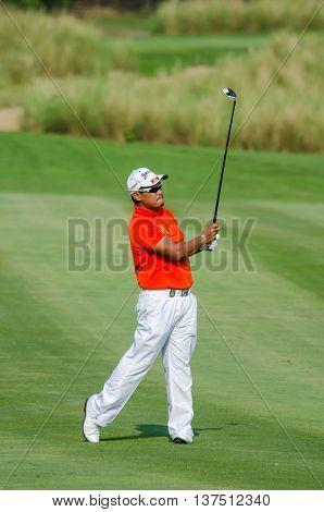CHONBURI - DECEMBER 10 : Chapchai Nirat of Thailand player in Thailand Golf Championship 2015 at Amata Spring Country Club on December 10 2015 in Chonburi Thailand.