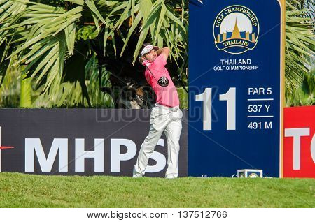 CHONBURI - DECEMBER 10 : Jbe Kruger of South Africa player in Thailand Golf Championship 2015 at Amata Spring Country Club on December 10 2015 in Chonburi Thailand.