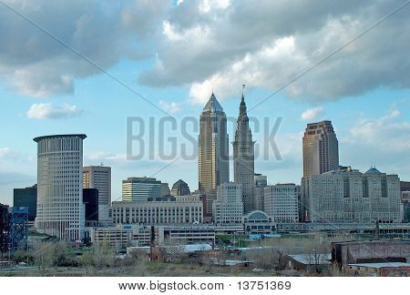 The city skyline Cleveland Ohio
