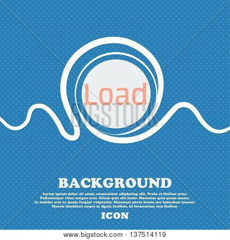 Download Now Icon. Load Symbol. Blue And White Abstract Background Flecked With Space For Text And Y