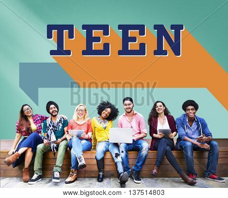 Teen Adolescence Lifestyle Young Youth Culture Concept