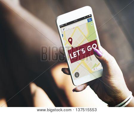 Journey Location Map Navigation GPS Concept
