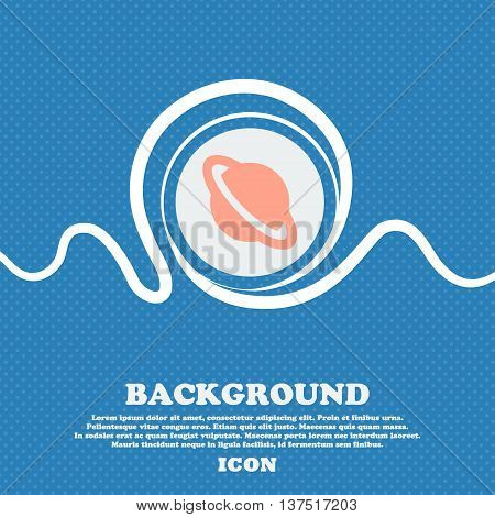 Jupiter Planet  Sign Icon. Blue And White Abstract Background Flecked With Space For Text And Your D