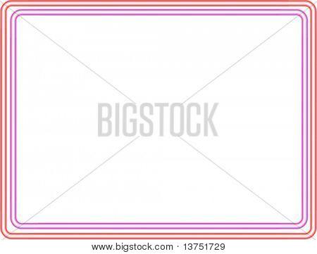 Neon vector border