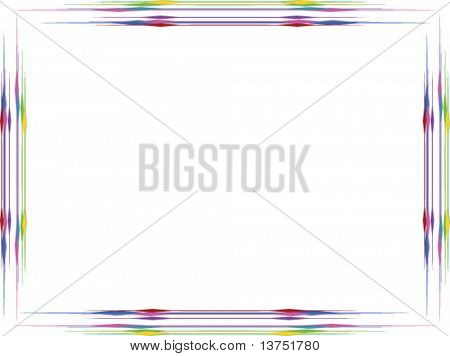 A colorful vector frame