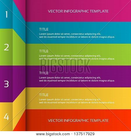 Modern 3D colorful infographic template business concept with 4 options