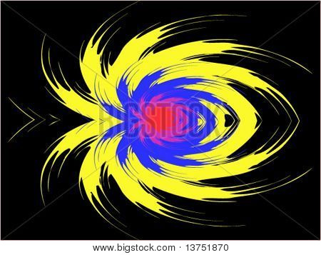 A spider like abstract vector background