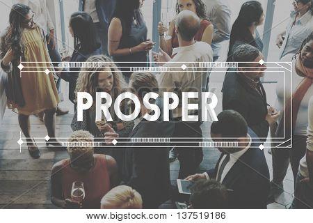 Prosper Success Development Achievement Improvement Concept