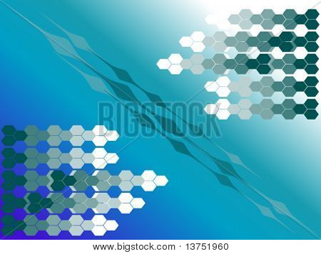 Hexagon vector background. You can change the size and color as you wish.