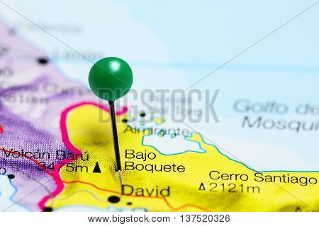 Bajo Boquete pinned on a map of Panama