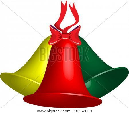 Trio of vector Christmas bells