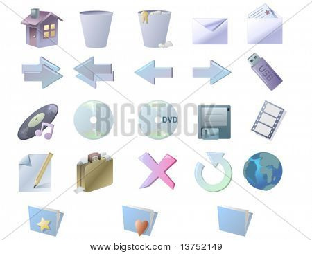 Set of web buttons for your designs. In vector format will size to any pixels without loss of quality