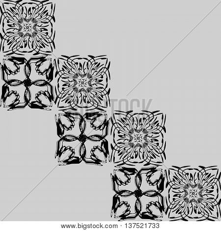 Openwork squares. Pattern or background of openwork black and white squares