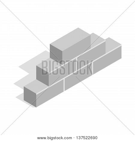 Brickwork icon in isometric 3d style isolated on white background