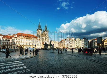 Old Town Square in Prague. Czech Republic