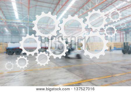supply chain management logistics warehouse distribute concept