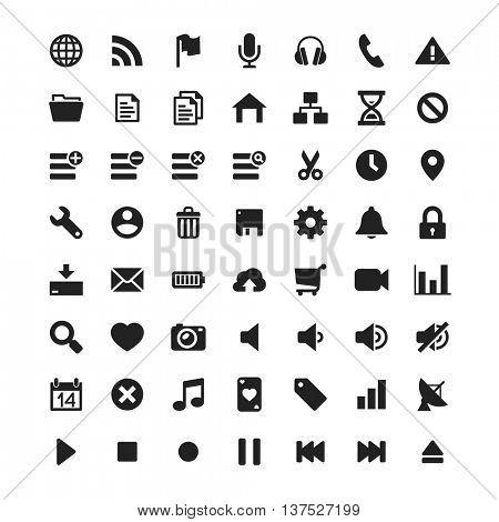 Simple UI universal icons set // Black & White