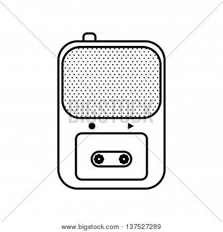 Broadcasting concept represented by recorder icon. isolated and flat illustration