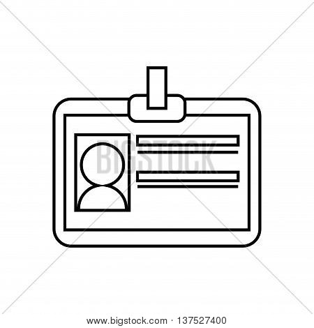 Vip concept represented by card with photo icon. isolated and flat illustration