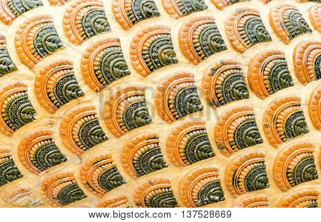 Close up Naga scale pattern texture background.