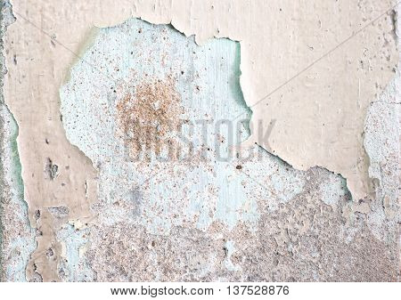 Cracked Decay Painted Concrete Wall Texture Background,grunge Wall