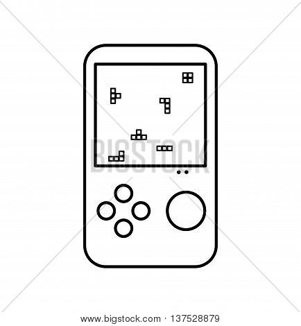 Gadget and technology concept represented by videogame icon. isolated and flat illustration